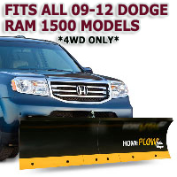 Fits All Dodge Ram 1500 09-12 Models - Meyer Home Plow Basic Manual Lift Snowplow