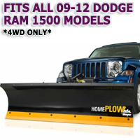 Fits All Dodge Ram 1500 09-12 Models(4WD ONLY) - Meyer Home Plow Hydraulically-Powered Lift w/Both Wireless & Wired Controllers - Auto-Angle Snow Plow
