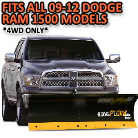 Fits All Dodge Ram 1500 09-12 Models(4WD ONLY) - Meyer Home Plow Basic Electric Lift Snowplow