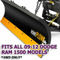 Fits All Dodge Ram 09-12 Models(4WD ONLY) - Meyer Home Plow Snow Plow - Hydraulic - Power Angling