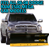 Fits All Dodge Ram 1500 Mega Cab 06-08 Models - Meyer Home Plow Basic Electric Lift Snowplow