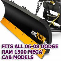 Fits All Dodge Ram 1500 Mega Cab 06-08 Models - Meyer Home Plow Snow Plow - Hydraulic - Power Angling