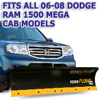 Fits All Dodge Ram 1500 Mega Cab 06-08 Models - Meyer Home Plow Basic Manual Lift Snowplow