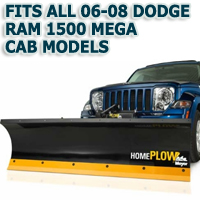 Fits All Dodge Ram 1500 Mega Cab 06-08 Models - Meyer Home Plow Hydraulically-Powered Lift w/Both Wireless & Wired Controllers - Auto-Angle Snow Plow