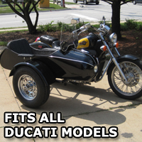 Classical RocketTeer Side Car Motorcycle Sidecar Kit - Ducati Models