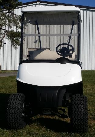 EZ-GO Gas Golf Cart RXV Lifted 13 hp Kawasaki With Utility Bed & Custom  Rims & Tires