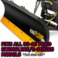 Fits All Ford Econoline/E-Series 08-13(full size van) Models - Meyer Home Plow Snow Plow - Hydraulic - Power Angling