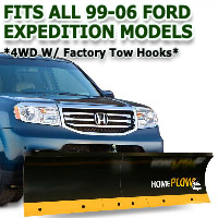 Fits All Ford Expedition 99-06(4wd w/ factory tow hooks) Models - Meyer Home Plow Basic Manual Lift Snowplow