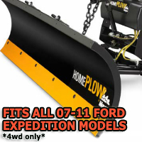 Fits All Ford Expedition 07-11(4wd only) Models - Meyer Home Plow Snow Plow - Hydraulic - Power Angling