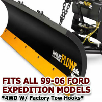 Fits All Ford Expedition 99-06(4wd w/ factory tow hooks) Models - Meyer Home Plow Snow Plow - Hydraulic - Power Angling