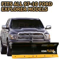 Fits All Ford Explorer 97-10 Models - Meyer Home Plow Basic Electric Lift Snowplow