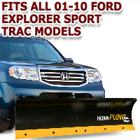 Fits All Ford Explorer Sport Trac 01-10 Models - Meyer Home Plow Basic Manual Lift Snowplow