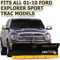 Fits All Ford Explorer Sport Trac 01-10 Models - Meyer Home Plow Basic Electric Lift Snowplow