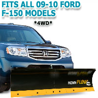 Fits All Ford F150 4wd 09-10 Models - Meyer Home Plow Basic Manual Lift Snowplow - All Except heritage Edition