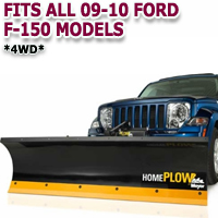 Fits All Ford F150 4wd 09-10 Models - Meyer Home Plow Hydraulically-Powered Lift w/Both Wireless & Wired Controllers - Auto-Angle Snow Plow