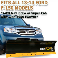 Fits All Ford F150 Crew or Super Cab 13-14 Models - Meyer Home Plow Basic Manual Lift Snowplow