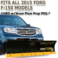 Fits All Ford F150 Heritage 2015 Models - Meyer Home Plow Basic Manual Lift Snowplow - 4wd w/ Snow Plow Prep PKG.