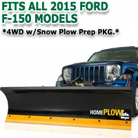 Fits All Ford F150 2015 Models - Meyer Home Plow Hydraulically-Powered Lift w/Both Wireless & Wired Controllers - Auto-Angle Snow Plow - 4wd w/Snow Plow Prep PKG.