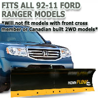 Fits All Ford Ranger 92-11 Models - Meyer Home Plow Basic Manual Lift Snowplow