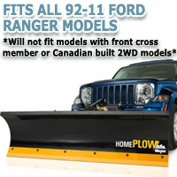Fits All Ford Ranger 92-11 Models - Meyer Home Plow Hydraulically-Powered Lift w/Both Wireless & Wired Controllers - Auto-Angle Snow Plow