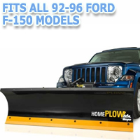 Fits All Ford F150 92-96 Models - Meyer Home Plow Hydraulically-Powered Lift w/Both Wireless & Wired Controllers - Auto-Angle Snow Plow