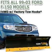 Fits All Ford F150 99-03 Models - Meyer Home Plow Basic Manual Lift Snowplow - 4wd w/ Factory Tow Hooks