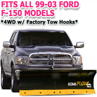 Fits All Ford F150 99-03 Models - Meyer Home Plow Basic Electric Lift Snowplow - 4wd w/Factory Tow Hooks