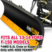 Fits All Ford F150 13-14 4wd 6.2L Crew or Super Cab Models - Meyer Home Plow Snow Plow - Hydraulic - Power Angling