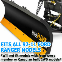 Fits All Ford Ranger 92-11 Models - Meyer Home Plow Snow Plow - Hydraulic - Power Angling