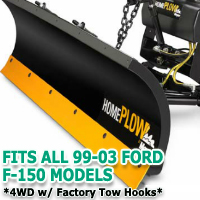 Fits All Ford F150 99-03 4wd w/ Factory Tow Hooks Models - Meyer Home Plow Snow Plow - Hydraulic - Power Angling