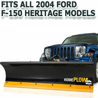 Fits All Ford F150 Heritage 2004 Models - Meyer Home Plow Hydraulically-Powered Lift w/Both Wireless & Wired Controllers - Auto-Angle Snow Plow