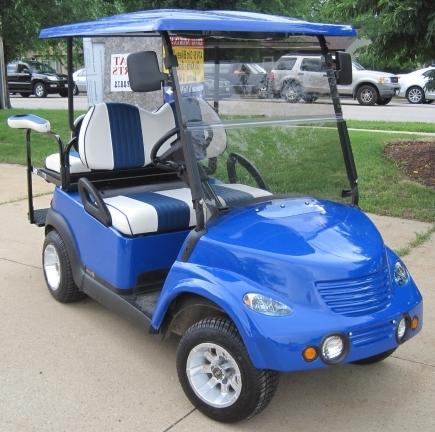48v electric pt cruiser custom club car golf cart blue. Black Bedroom Furniture Sets. Home Design Ideas