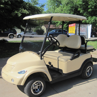 Carmel Beige PT Cruiser Custom Club Car Golf Cart
