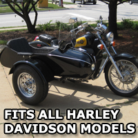 Classical RocketTeer Side Car Motorcycle Sidecar Kit - Harley Davidson Models
