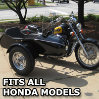 Classical RocketTeer Side Car Motorcycle Sidecar Kit - Honda Models