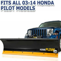 Fits All Honda Pilot 03-14 Models - Meyer Home Plow Hydraulically-Powered Lift w/Both Wireless & Wired Controllers - Auto-Angle Snow Plow