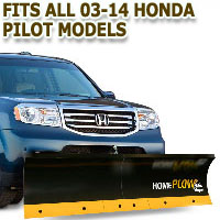 Fits All Honda Pilot 03-14 Models - Meyer Home Plow Basic Manual Lift Snowplow