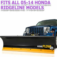 Fits All Honda Ridgeline 05-14 Models - Meyer Home Plow Hydraulically-Powered Lift w/Both Wireless & Wired Controllers - Auto-Angle Snow Plow