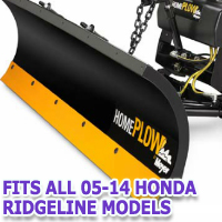 Fits All Honda Ridgeline 05-14 Models - Meyer Home Plow Snow Plow - Hydraulic - Power Angling