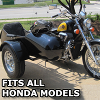 Standard RocketTeer Side Car Motorcycle Sidecar Kit - Honda Models