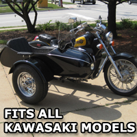 Classical RocketTeer Side Car Motorcycle Sidecar Kit - Kawasaki Models