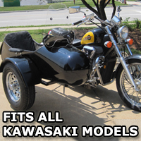 Standard RocketTeer Side Car Motorcycle Sidecar Kit - Kawasaki Models