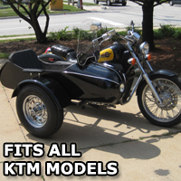 Classical RocketTeer Side Car Motorcycle Sidecar Kit - KTM Models