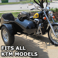 Standard RocketTeer Side Car Motorcycle Sidecar Kit - KTM Models