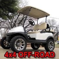 48V Club Car Precedent 4x4 w/ Chrome Rims - Moonlight White