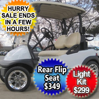48V Club Car Precedent w/ Chrome Rims -  Moonlight White
