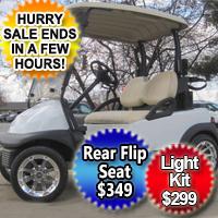 48V Club Car Precedent w/ Chrome Rims -  Moonlight White