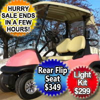 48V Pink Panther Club Car Precedent Electric Golf Cart