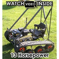 Gas Powered PTV Personal Tractor Go Kart Utility Wheelchair Offroad Tracked Vehicle