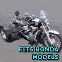 Outlaw Series Scooter Trike Kit - Fits All Honda Models
